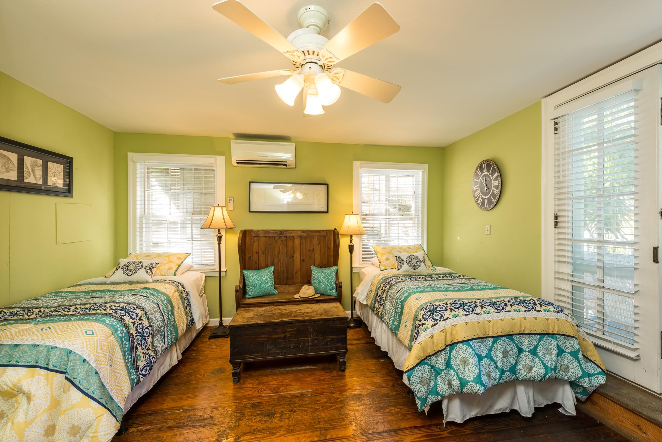 Key West Vacation Home - William Skelton House - Second Floor Twin Bedroom